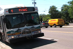 Route 4 bus at Barnett Rd. bus stop